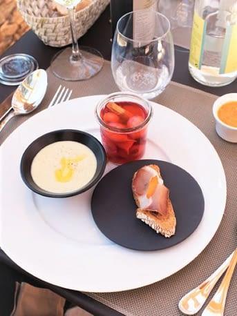 Plat du restaurant / Dish from the restaurant