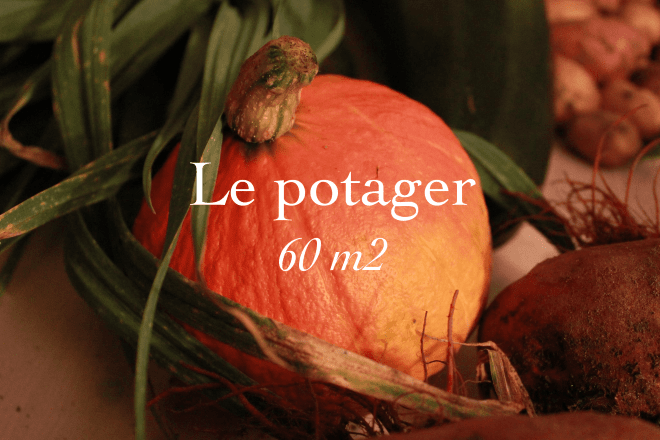 Le potager, 60 square meters