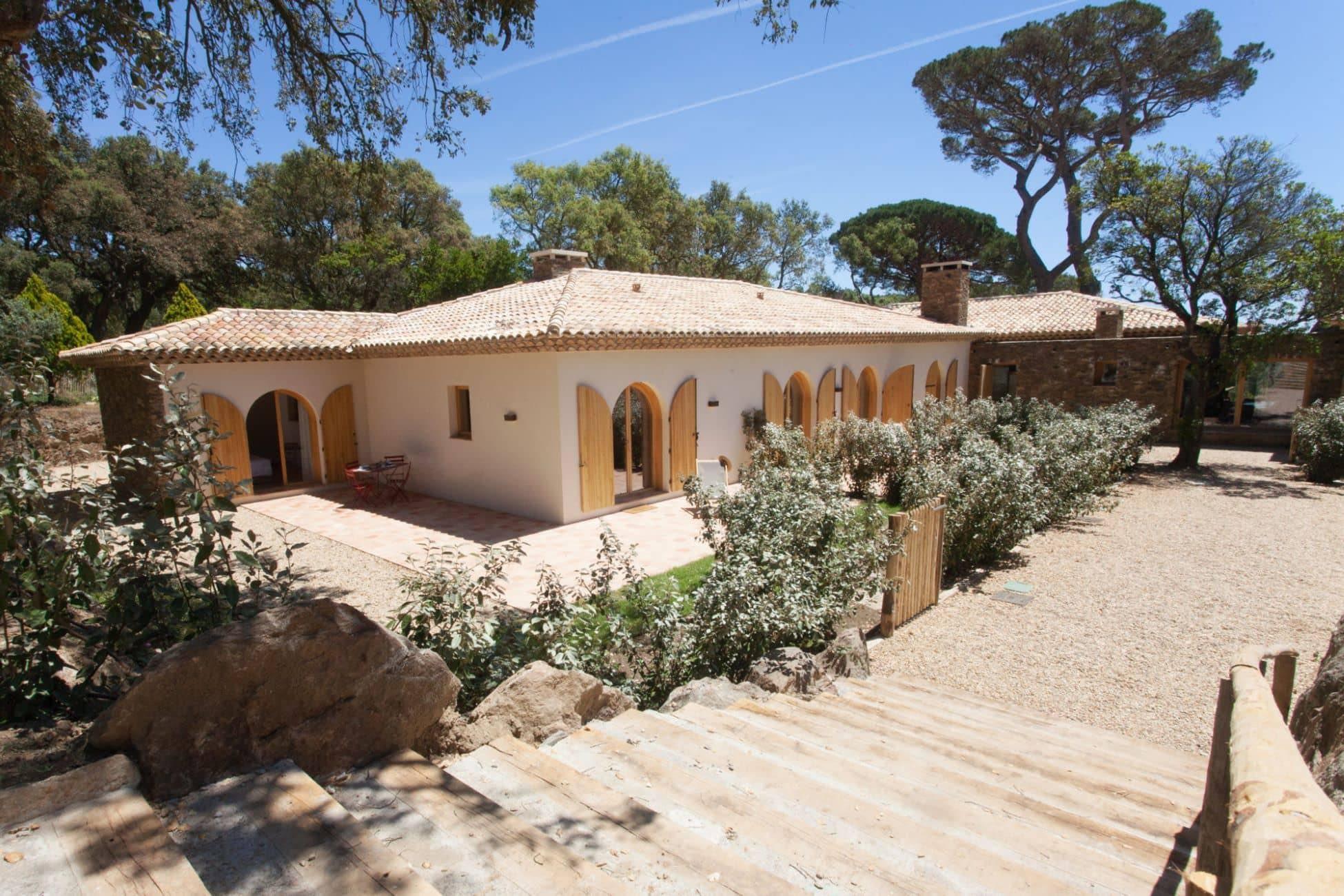 Façades maisons L'arbousier et L'olivier / Fronts of the houses L'arbousier and L'olivier